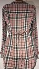 H&M MAMA PINK CHECKED NURSING SHIRT DRESS SIZE M 12